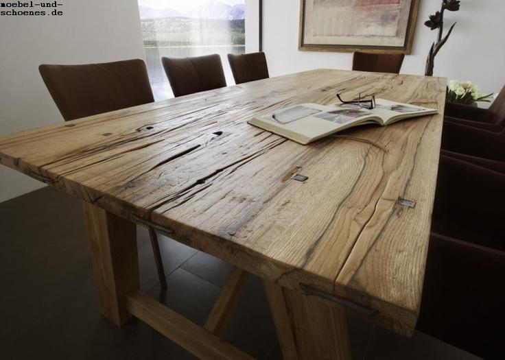 Holztisch rustikal  45 besten Tisch Bilder auf Pinterest | Eiche, Holztisch massiv und ...