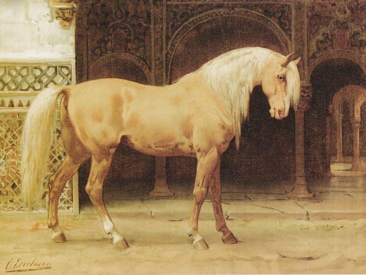 Het Andalusische paard, schilderij van Otto Eerelman