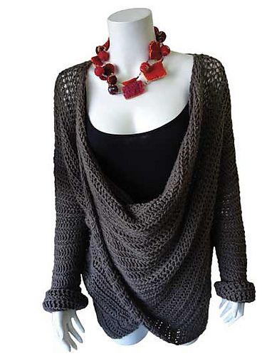 Simply Elegant Crochet Sweater by Annie's Craft #crochet #sweater