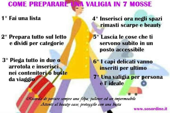 7 passi per fare la valigia www.sosordine.it