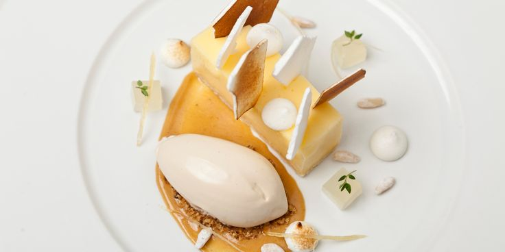 Lemon Meringue Pie Recipe & Pine Nut Ice Cream - Great British Chefs