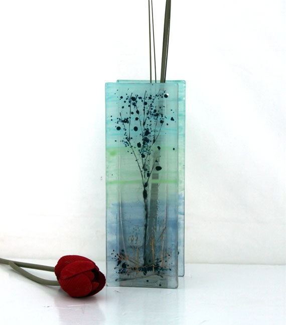 1000 images about fused glass vases on pinterest glass for Dot wall vase