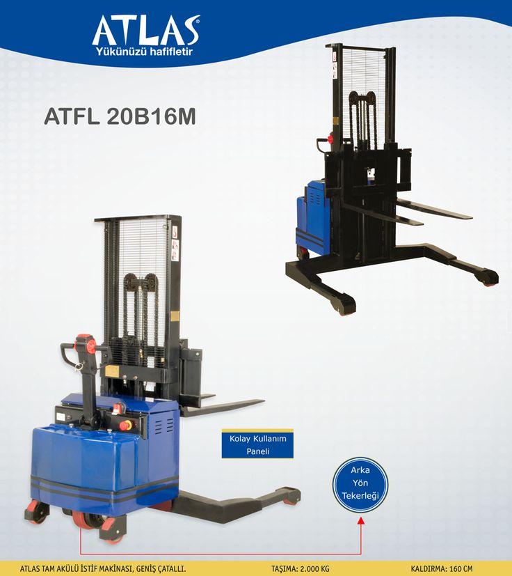 ATLAS tam akülü istif makinası ATFL 20B16M performanslı istifleme makinasıdır. İstif makinası 2 ton 160 cm'dir. http://www.ozkardeslermakina.com/urun/tam-akulu-istif-makinasi-atlas-atfl-20b16m/ #forklift #atlas #akülü_istif_makinası #tam_akülü_istif_makinası #depo #yeşil_enerji #istifleme_aracı #yükünüzü_hafifletir