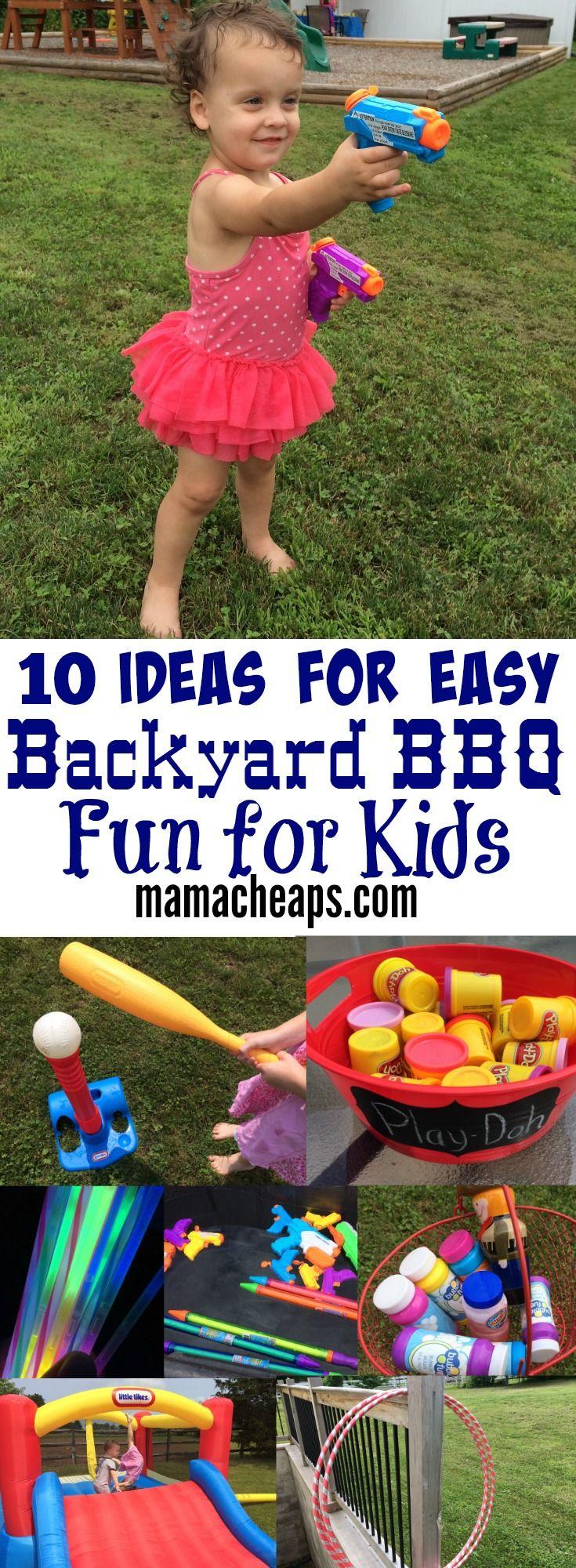 10 Ideas for Easy Backyard BBQ Fun for Kids Mama Cheaps