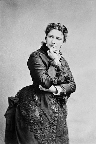 Victoria Claflin Woodhull (1838-1927) was an American leader of the woman's suffrage movement. She and her sister were the first women to operate a brokerage in Wall Street. She was the first woman to start a weekly newspaper and the first woman to run for President, in 1872, a time when most women did not even have the right to vote.