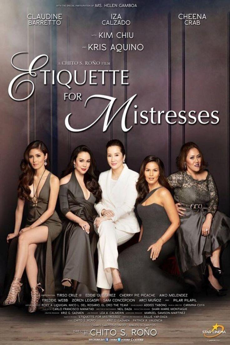 "Star Cinema has released the cinema trailer for the upcoming comedy movie  ""Etiquette for Mistresses"" starring Kris Aquino, Kim Chiu, Claudine  Barretto, ..."