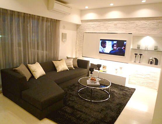 L256URBAN Relax壁一面を白で統一して都会的でスタイリッシュな空間に。