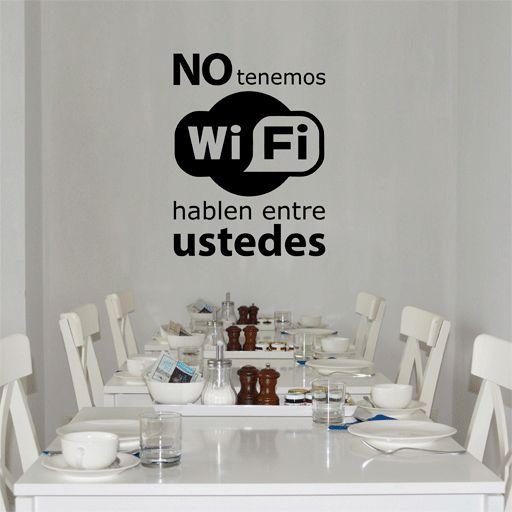 Vinilo decorativo para promover el diálogo en la comida o cena. =)