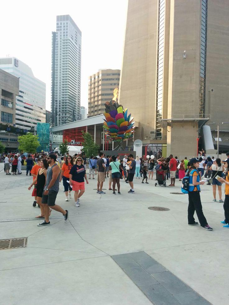 At the base of CN Tower during the Toronto 2015 Pan Am/Parapan Am Games.