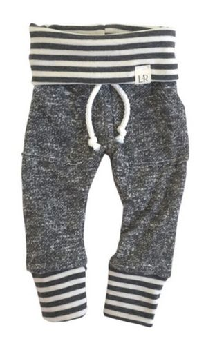 These French terry sweats are created for hip modern babies using only the finest fabrics. All seams are serged for a professional finish and added durability.T