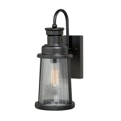 "Outdoor Hanging Porch Lights Menards: Bennett 1-light 15"" Oil Burnished Bronze Outdoor Wall"