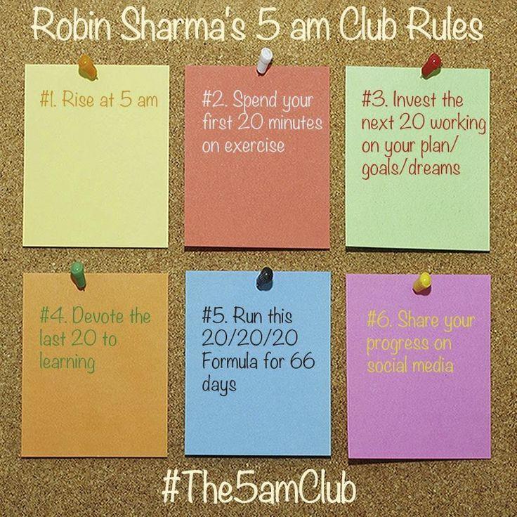 5AM Club ...  work your plan!