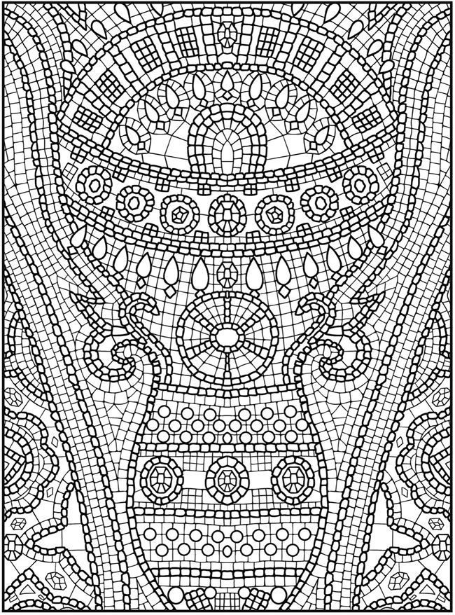 Coloring Pages Mosaic Roman Mosaics Colouring Sheets Mosaic