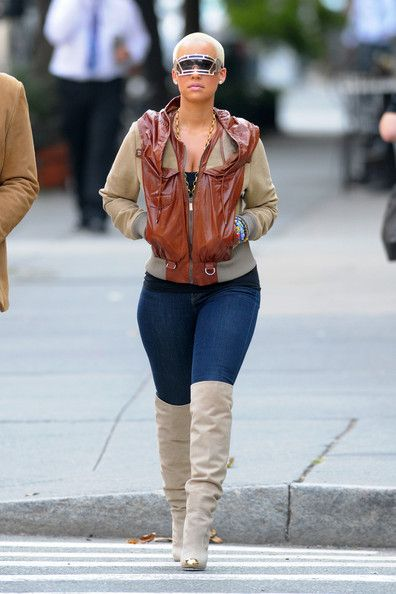 Amber Rose - Love it all!!--the boots are so hot with gold toe--fab!!!!!!!!