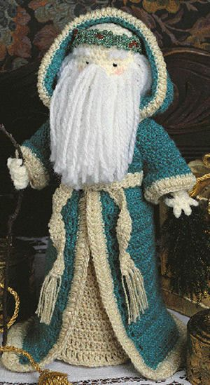 Father Christmas Free-Standing Crochet Doll Pattern (ePattern Download)