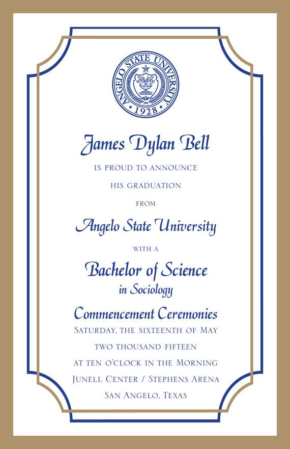 College Graduation Invitation 107