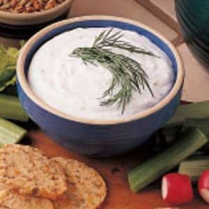 Fresh Vegetable Dip Recipe - Better than the store-bought stuff!
