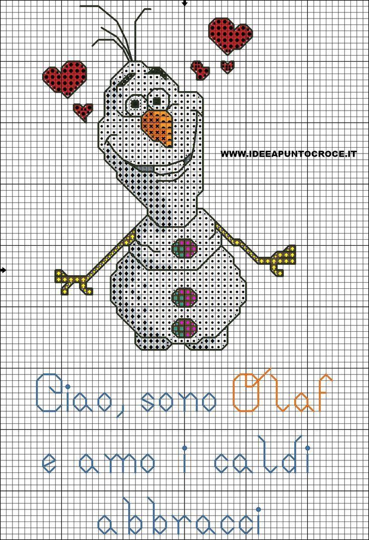 Bonhomme de neige hiver - Snowman winter (grille gratuite)