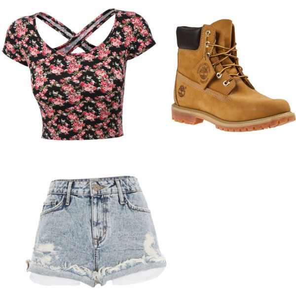 Becky g outfit by mariyatoro on Polyvore featuring polyvore, fashion, style, River Island and Timberland