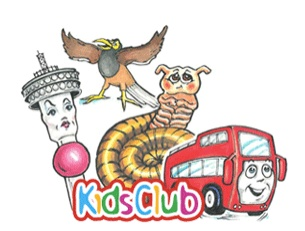JOBURG kids club characters. Joey the Bus, Thandi Tower, Nick the Minah and Shy Shongolo will tell you more about Johannesburg.