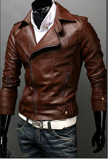 Handmade brown Leather Jacket men leather jacket by Besteshop