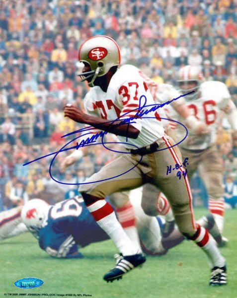 Jimmy Johnson San Francisco 49ers Autographed 8x10 Photograph with HOF 94 Inscription