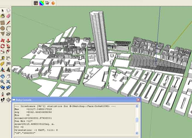 Solar Irradiance calculator - Simple plugin for Sketchup. Works nice for small models.