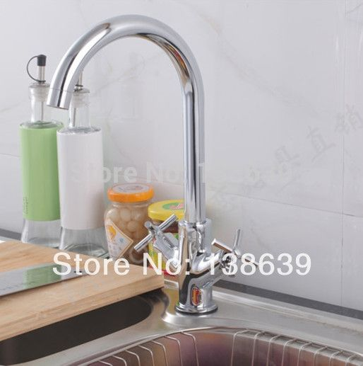(51.39$)  Know more - http://aikmu.worlditems.win/all/product.php?id=1698655739 - Free shipping 2014 nice design single hole 2 handles kitchen faucet hot and cold mixer tap pure water filter,taps kitchen