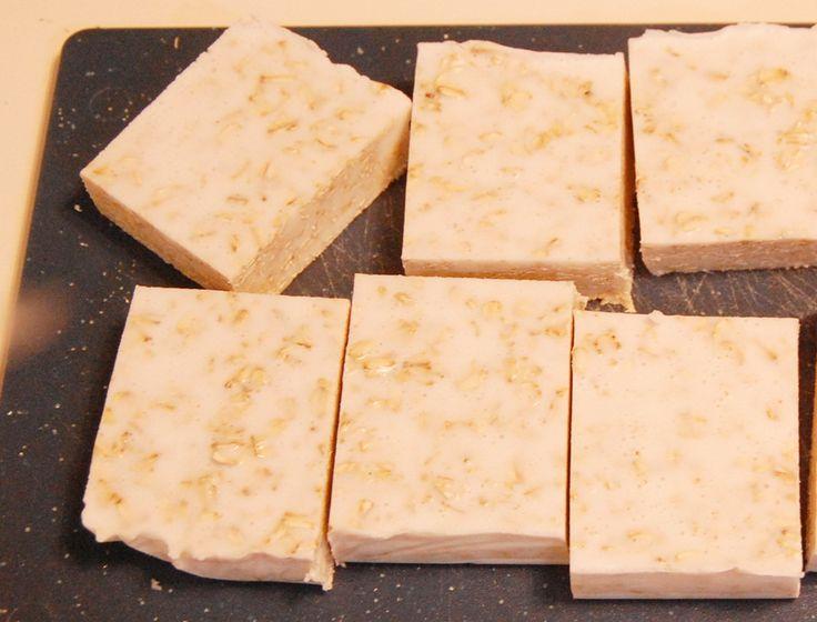 DIY Honey Almond Oatmeal Soap Bars