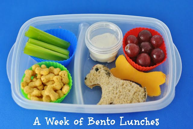 A week's worth of cute #bento #lunch ideas. The dog was my favorite!