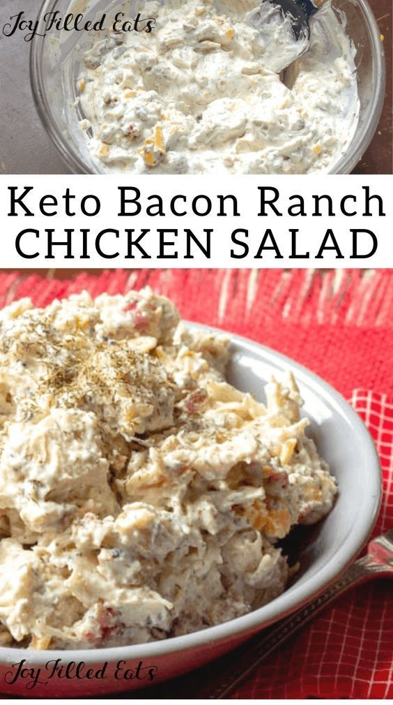 Bacon Ranch Einfacher Hühnersalat – #Bacon #easy # Chicken Salad #Ranch – #k …