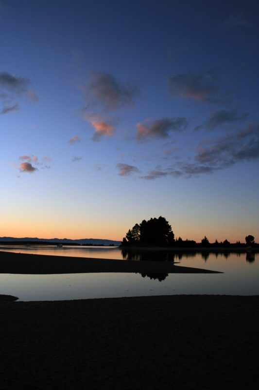 Sunset view from Monaco, Nelson, South Island, New Zealand