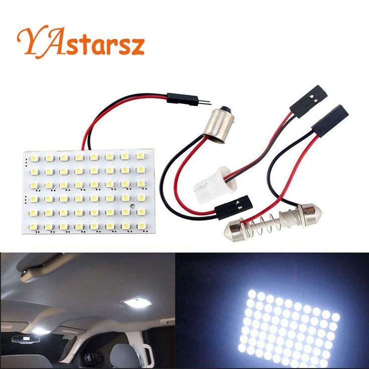 48 LED Auto Mobil Dome Memperhiasi Interior Bulb Roof Cahaya lampu dengan T10 BA9S Festoon Adapter Basis Membaca cahaya Tinggi kualitas