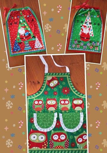 Christmas Apron & Santa Sacks
