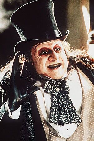 The Penguin portrayed by Danny DeVito...despite the negative views of Batman Returns...Danny Devito played a Great Penguin.