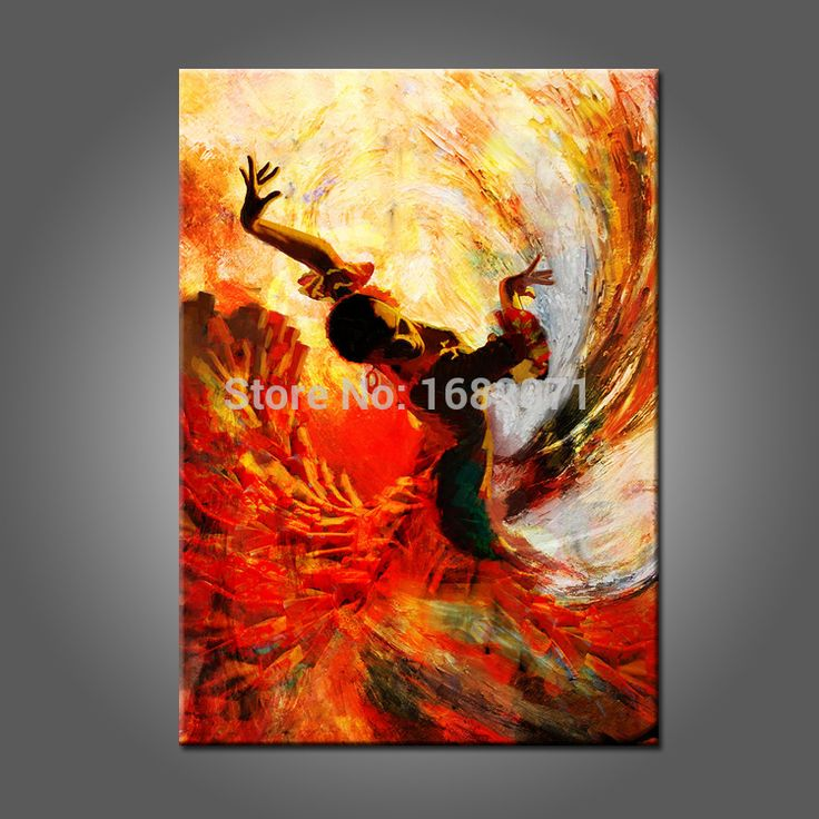 Spanish Dancer Oil Painting Hand Painted High Quality Flamenco Dancer Oil Painting On Canvas For Wall Decoration-in Painting & Calligraphy from Home & Garden on Aliexpress.com | Alibaba Group