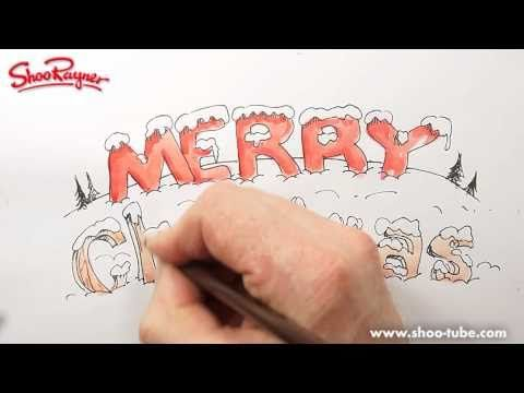 How to draw snow covered lettering