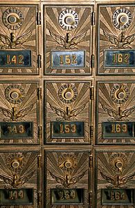 Mailboxes from the post office was in operation in Dillsburg, Pennsylvania, from 1913 to 1971.