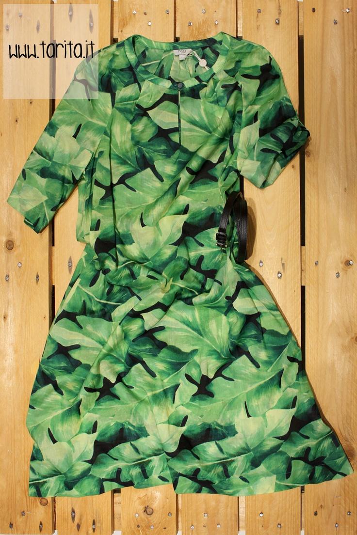 Tarita S/S 2013. Hoss Intropia, cotton printed dress with belt.
