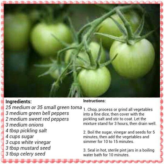 Green Tomato Relish                                                       …