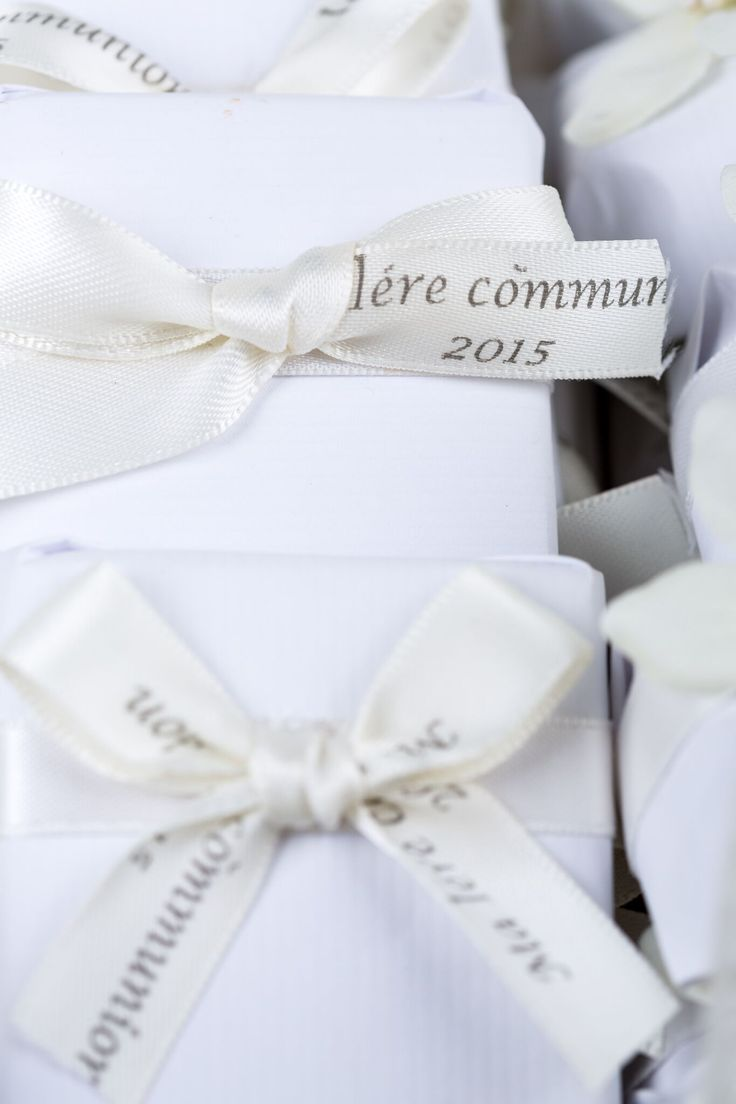 Detail of decorated assorted chocolate for First Communion.