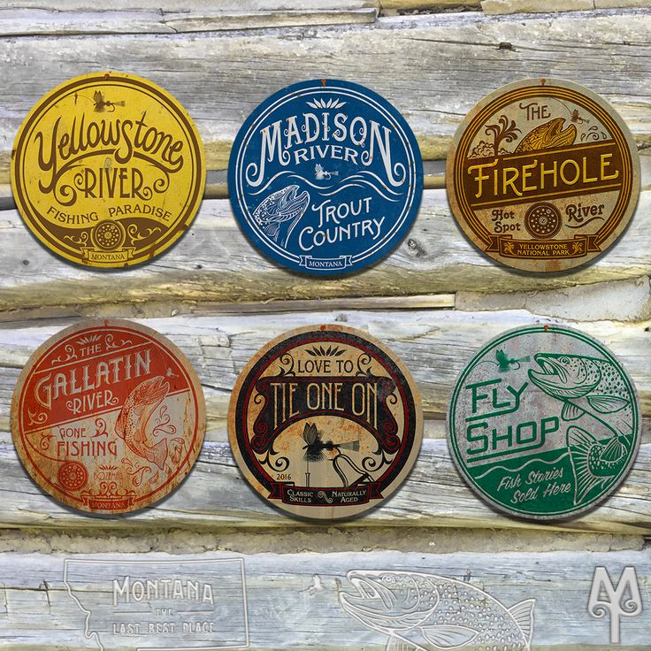 Vintage Fly Fishing Wall Signs made by Montana Treasures make a great gift for an outdoorsman. Hang them in your home, cabin, or man-cave; and show everyone how much you love fly fishing and Montana.