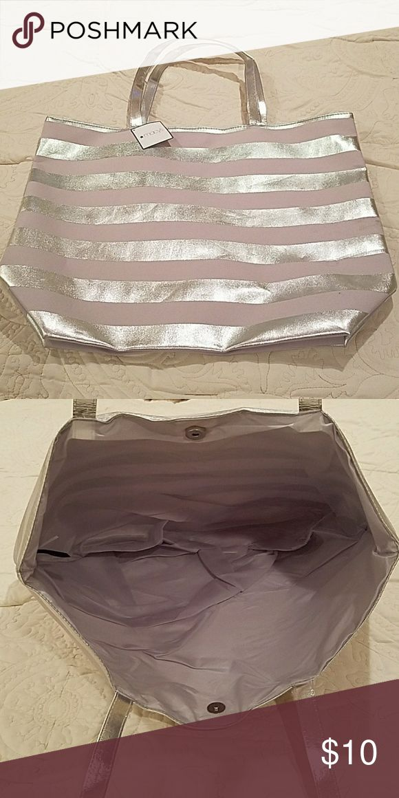 Silver Tote Bag Silver Tote Bag from Macy's. Brand new! Never used! Macy's Bags Totes