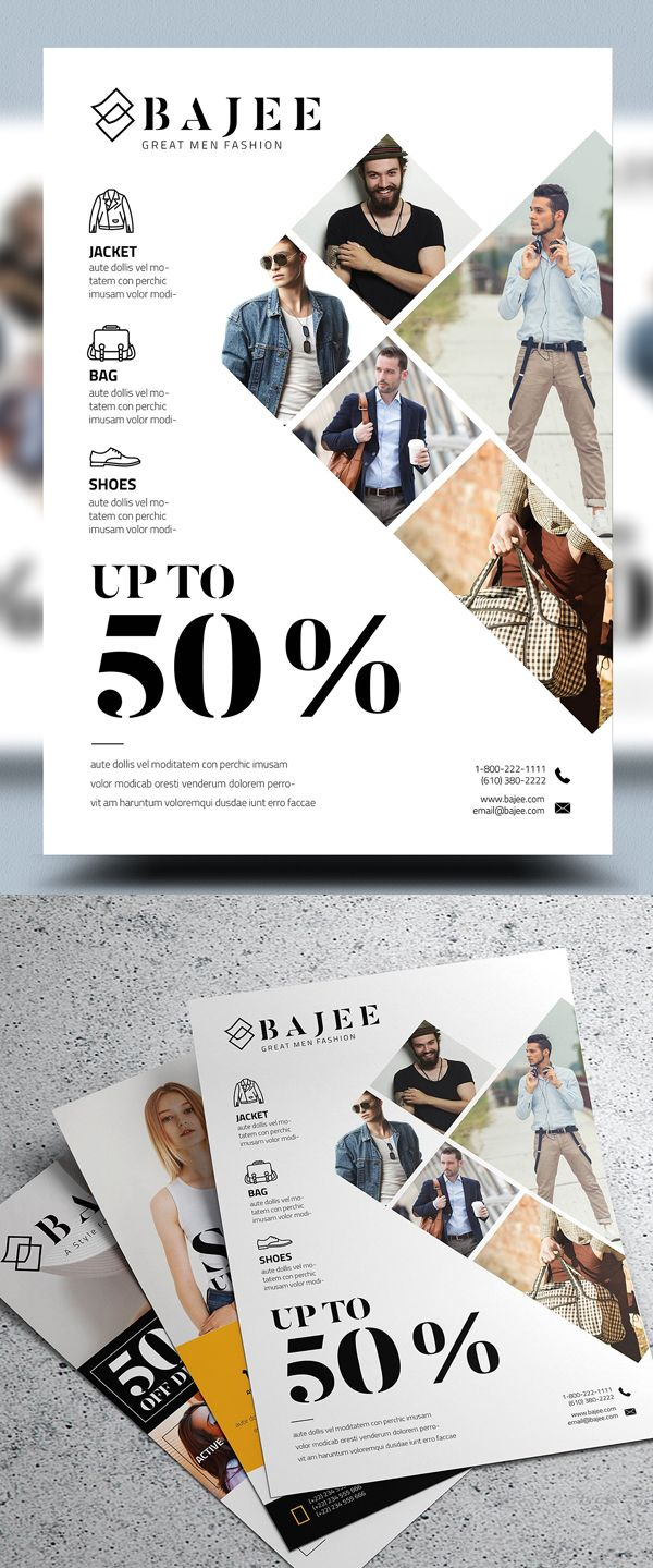 Corporate Fashion Flyer Template #flyerdesign #psdtemplate #corporate #party #event