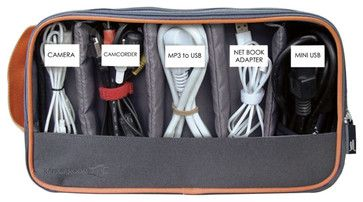 2-sided Cord Organizing Pouch - contemporary - cable management - Great Useful Stuff