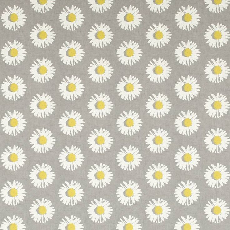 Warwick Fabrics : DAISY POP, Colour CHARTREUSE