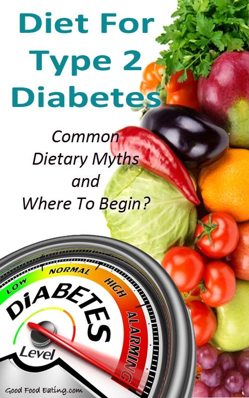 Diet For Type 2 Diabetes. Common Dietary Myths and Where To Begin?