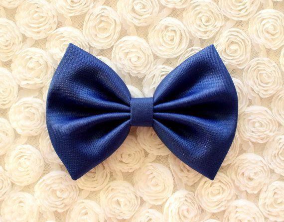 midnight blue hair bow