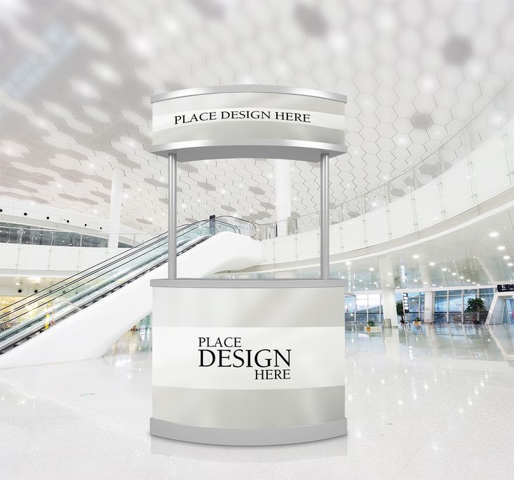 Download Free Promotion Counter Mockup
