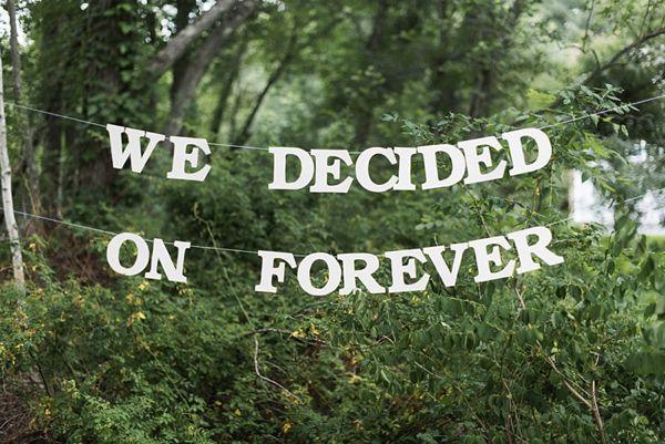 we decided on forever - photo by Julia Elizabeth Photography http://ruffledblog.com/italian-inspired-backyard-wedding